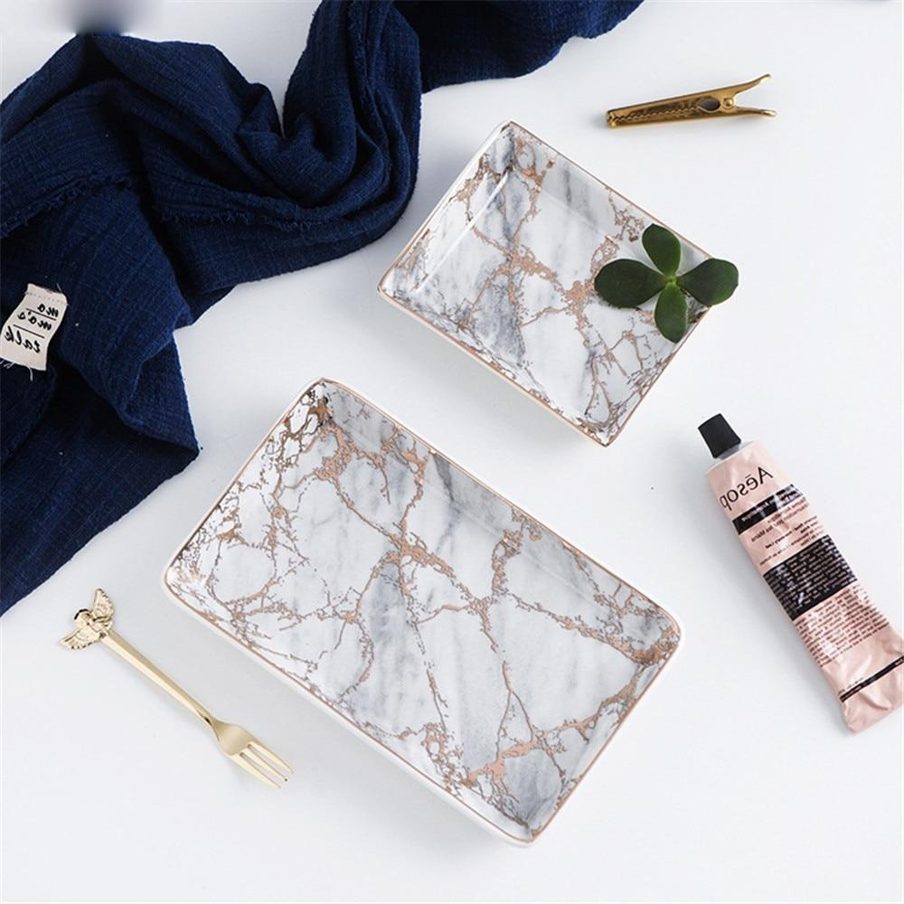 Marble Pattern Ceramics Trays - The KOKO Glam