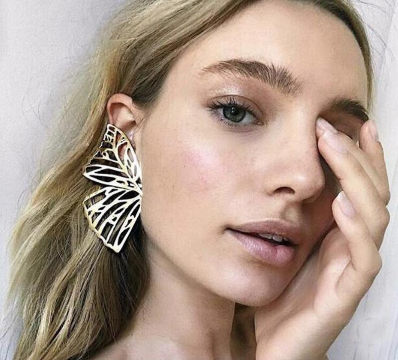 Butterfly Drop Dangle Earring- Large Wing -Statement Jewelry- - The KOKO Glam