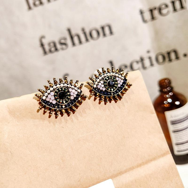 Vintage Evil Eye Stud Earrings - The KOKO Glam