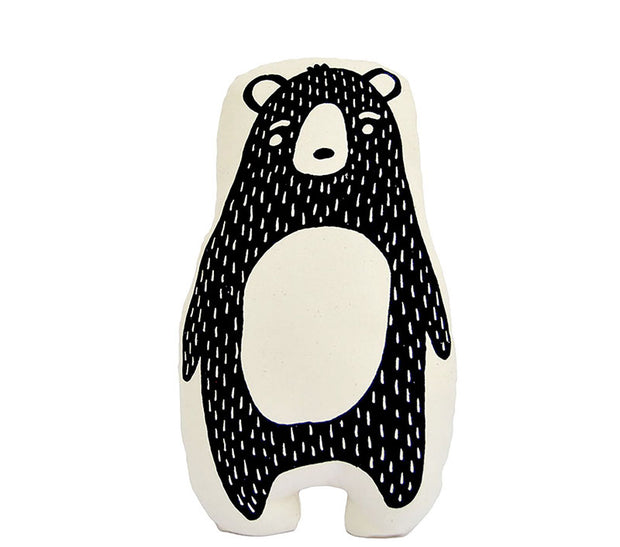 bear animal pillow for nursery decor or kids room decor - fair trade and ethical product made by empowered women