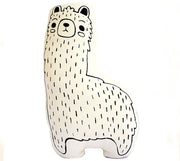llama animal pillow for nursery decor or kids room decor - fair trade and ethical product made by empowered women