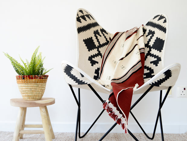 light weight hand loom cotton throws are the perfect statement piece to add on your couch or accent chair.