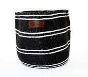 Stylish storage basket for everyday use. Made in Kenya from Sisal and recycled plastic under fair trade condition