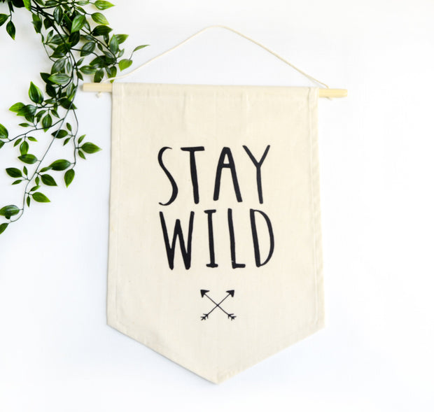 stay wild decorative wall hanging for nursery decor or kids room decor - fair trade and ethical product