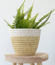 Fair trade, ethically made planter basket made in Africa for interior decor. indoor planter basket