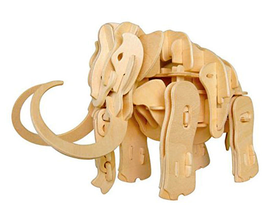DIY 3D WOODEN WALKING MAMMOTH PUZZLE. FUN FOR ALL AGES.  A400