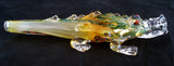 "BEAUTIFUL 7"" GLASS ALLIGATOR SMOKING PIPE. GAP-ALGT-1"