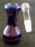 14mil DECORATED COLORED GLASS ASHCATCHER.  ON SALE.  ASH-2A