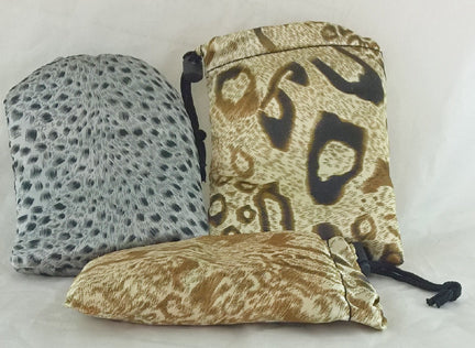 ANIMAL PRINT SOFT JEWELRY BAGS. 6