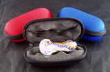 "4.5"" X 2"" CLAMSHELL MICROPHONE STYLE CASE. ZIP UP.   BAG-5A"