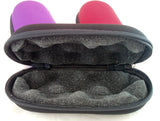 "6"" X 2.5"" CLAMSHELL MICROPHONE STYLE CASE. ZIP UP.   BAG-5B"