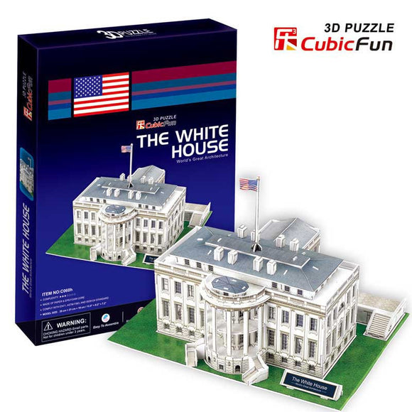 DIY 3D WHITE HOUSE PUZZLE. FUN FOR ALL AGES.  C060H