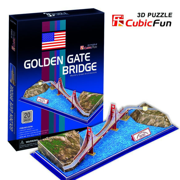 DIY 3D GOLDEN GATE BRIDGE PUZZLE. FUN FOR ALL AGES.  C078H