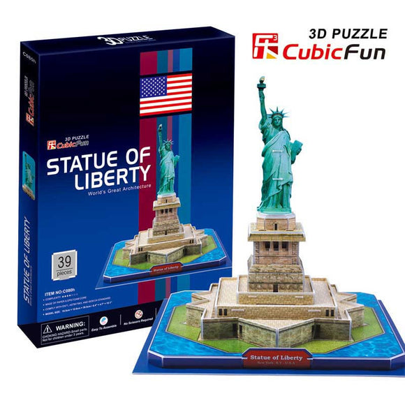 DIY 3D STATUE OF LIBERTY PUZZLE. FUN FOR ALL AGES.  C080H