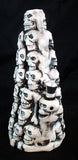 "8"" CERAMIC MOUNTAIN OF SKULLS SMOKING WATER PIPE/BUBBLER. C21"