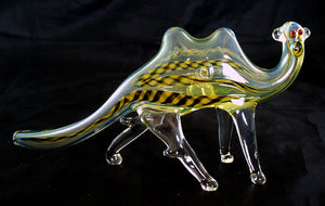 "BEAUTIFUL 6"" GLASS CAMEL SMOKING PIPE. GAP-CML-1"