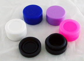 "1.5"" SILICONE STORAGE CONTAINER FOR WAX AND OIL. FLAT.  ""Quantity Discount Available"" CON-WX-1"