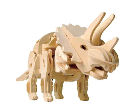 DIY 3D WOODEN WALKING TRICERATOPS PUZZLE. FUN FOR ALL.  D400