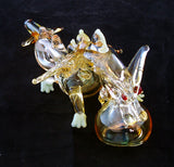"BEAUTIFUL 6"" GLASS DRAGON SMOKING PIPE. GAP-DGN-2"
