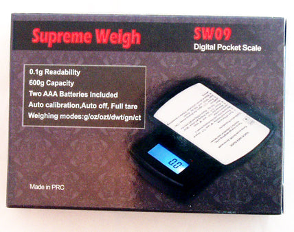 600gram DIGITAL POCKET SCALE. 0.1gram ACCURACY. DSC-1