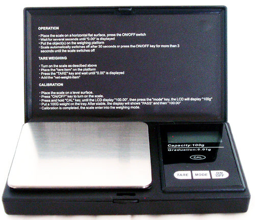 100gram DIGITAL POCKET SCALE. 0.01gram ACCURACY. DSC-3C