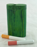 "3""  CLASSIC STYLE GREEN WOOD DUGOUT WITH  ONE HITTER. DUG-22"