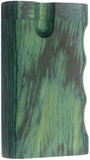 "3"" GRIP STYLE GREEN WOOD DUGOUT WITH ONE HITTER. DUG-24"
