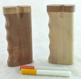 "4"" GRIP STYLE WALNUT WOOD DUGOUT WITH ONE HITTER. DUG-27"