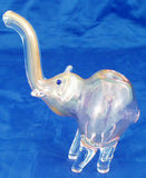 "BEAUTIFUL PINK 5"" FUMED GLASS ELEPHANT SMOKING PIPE.  EL-5"