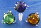 19mil ECONOMICAL CLEAR OR COLORED GLASS ON GLASS BOWL.  GGB-1B