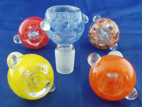 19mil COLORFUL AND DECORATED GLASS ON GLASS BOWL. GGB-10B