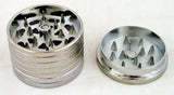 "1.75""dia  THREE CHAMBER DOLLAR DESIGN GRINDER. GRSTDLR-1"