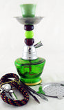 "ECONOMICAL PERSONAL 7"" MINI HOOKAH. MIXED COLORS. HK-029-B4"