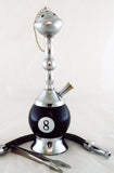"ECONOMICAL PERSONAL 6"" MINI HOOKAH. 8 BALL DESIGN. HK-8BL"