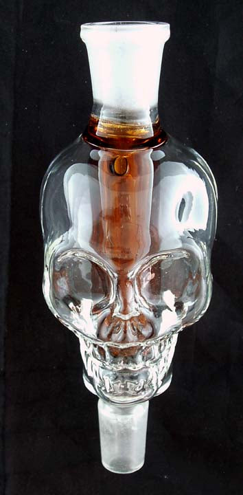 14mil GLASS ON GLASS INLINE SKULL PERCOLATOR. INL-3A