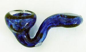 "3"" SHERLOCK STYLE INSIDEOUT GLASS HAND PIPE.  IOS-1A"