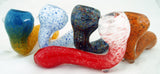 "DISCOUNTED 10 PACK OF 4"" - 4.5"" SHERLOCK STYLE INSIDEOUT GLASS HAND PIPE.  IOS-3X"