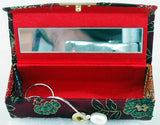"UNIQUE 3.5"" SILK AND HARD SHELL JEWELRY/LIPSTICK CASE. JWLBX-1"