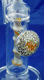 "8"" HIGH QUALITY DECORATED COLORED GLASS ON GLASS OIL WATERPIPE . 14mm GLASS NAIL AND DOME.  ON SALE.  KL04"