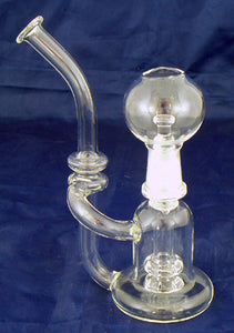 "6"" HIGH QUALITY CLEAR GLASS ON GLASS OIL WATERPIPE WITH DIFFUSED DOWNSTEM. 14mm GLASS NAIL AND DOME. ON SALE.  KL07"