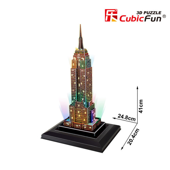 DIY 3D EMPIRE STATE BUILDING PUZZLE. LED LIGHT UP.  L503H