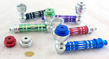 "3"" ALL METAL PIPE. DIAMOND CUT. VARIOUS COLORS.   MP-1A"