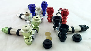 "UNIQUE 3"" DOUBLE BOWL METAL PIPE. VARIOUS COLORS. ""Quantity Discount Available"" MP-31"