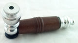 "3"" METAL PIPE WITH WOOD LOOK PLASTIC BODY. VARIOUS COLORS.  MP-33"
