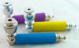 "3.5"" METAL PIPE WITH RUBBER SLEEVE BODY. VARIOUS COLORS.  MP-39"