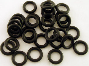 "PACK OF 100 RUBBER ""O"" RINGS FOR PULL STEM SLIDES & BOWLS. ORNG-X"