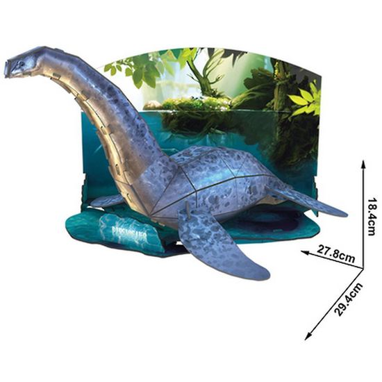 DIY 3D PLESIOSAUR PUZZLE. FUN FOR ALL AGES.  P671H