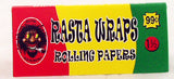 50 BOOKLETS OF RASTA WRAP SMOKING PAPERS.  78MIL. PAP-11