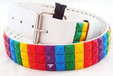 DECORATED LEATHER RAINBOW BELT. RNBW-BLT1