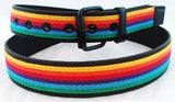 DECORATED LEATHER RAINBOW BELT. RNBW-BLT2
